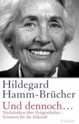 """Buchcover Hildegard Hamm-Brücher """"Und dennoch"""""""