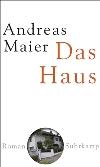 "Buchcover Andreas Maier ""Das Haus"""